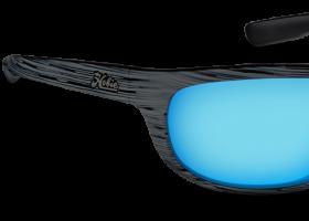 Cobalt Mirror Lens, Woodgrain Black Frame