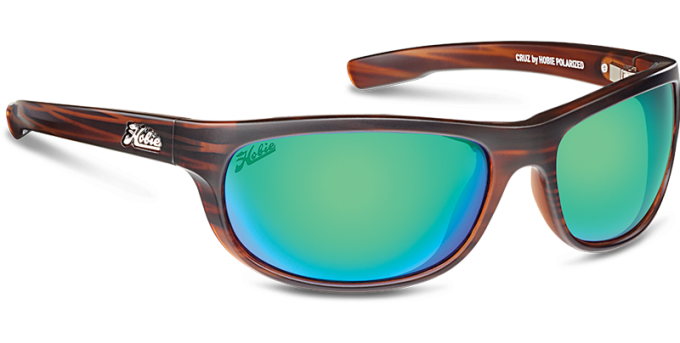 Hobie Polarized Sunglasses Cruz 191926 Green Mirror Copper Sport Lens
