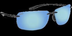 Hobie Polarized Sunglasses Rips 010168 Blue Mirror Grey Sport Lens