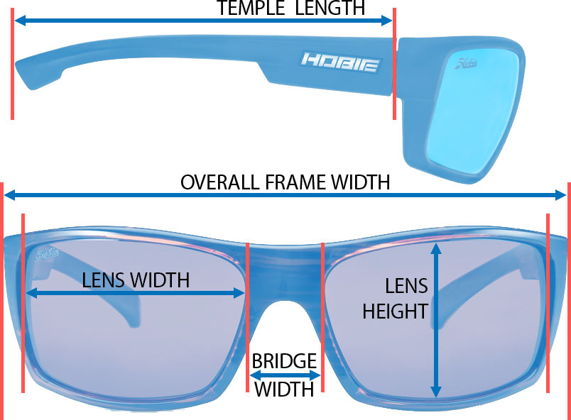 polarized sunglasses frame specifications and measurements